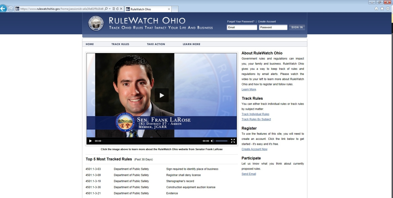 New Website Helps Ohioans Monitor Regulations