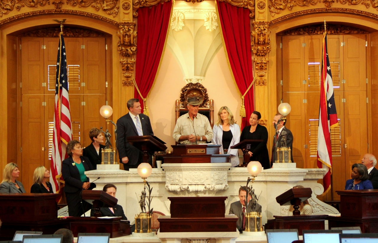 Ohio House of Representatives Honors Jack Hanna for 35 Years of Service