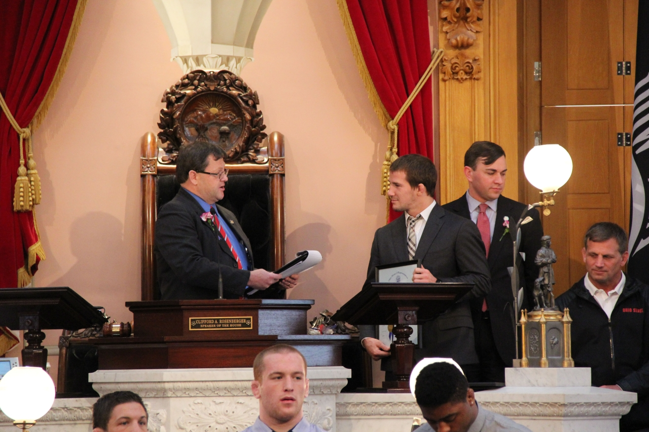 State Representative Terry Boose Honors Four-Time NCAA Wrestling Champion