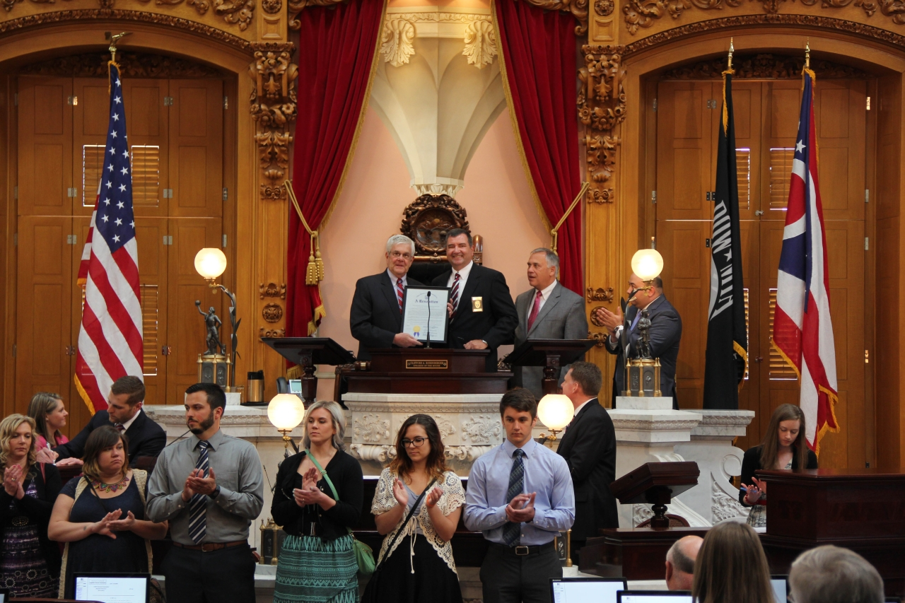 Ohio House Honors Ernie Moore as Ohio's Warden of the Year