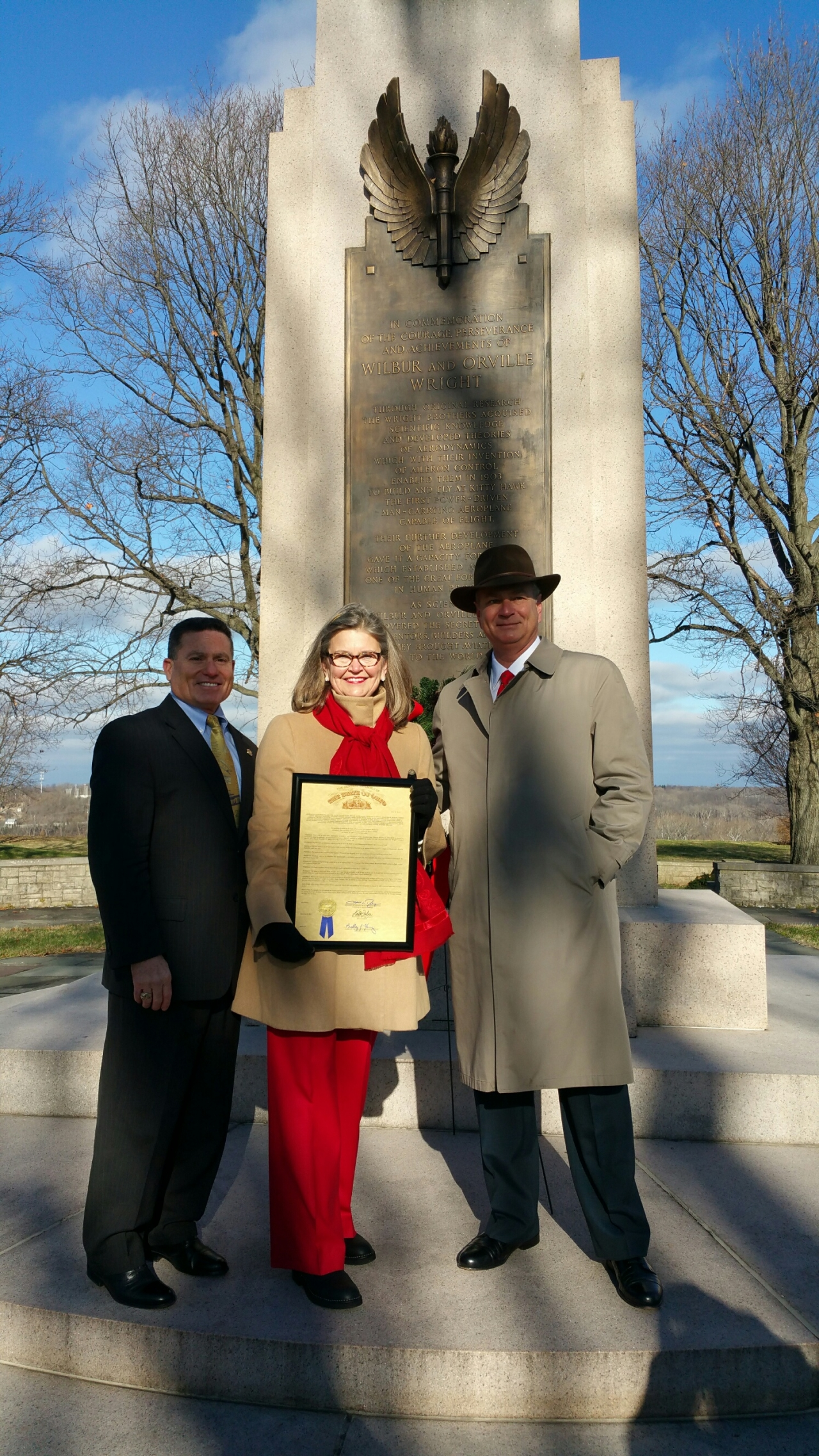 State Rep. Rick Perales Presents Resolution Solidifying Wright Brothers' Place in History