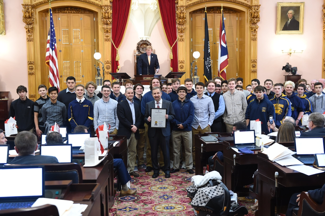 State Representative Ron Young Honors Kirtland Hornets at Ohio Statehouse
